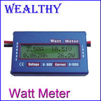 1pcs 60V/100A Digital Battery Checker Watt Meter Power Analyzer Balance LCD Amps Amper Testing Balancer Servo Test Program