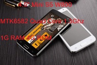 4.5 inch  Mini S5 W800 Android Mobile Cell Phones MTK6582 Quad Core WCDMA 1G RAM 4G ROM 1080P Dual Sim