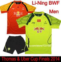 2014 Li-Ning BWF Thomas & Uber Cup China National Badminton Jerseys , CHEN LONG Badminton clothes , Lin Dan badminton shirts