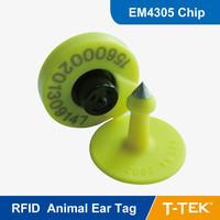 RFID  Animal Electronic Ear Tag with EM4305 Chip, RFID Animal ear tag, Free Shipping,