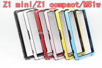 Z1 Mini TPU Bumper for Sony Xperia Z1Compact Dual Color Frame M51W Fold Frame with Retail Box Free Ship Z1mini Bumper