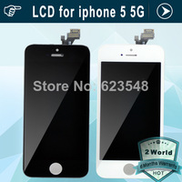10pcs Original LCD Replacement Digitizer with Touch Screen Display Assembly repair replacement For iphone 5 5G DHL free shipping
