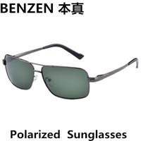 2014 Men sunglasses alloy  Polarized  sun glasses  driver driving  glasses UV 400 fishing glasses  with case black 2028A