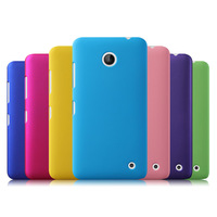 Free Shipping! Colorful Oil-coated Rubber Matte Hard Back Case for Nokia Lumia 630 635 Frosted Protective Back Cover, NOK-034