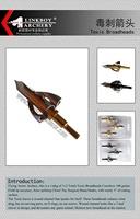 Linkboy Toxic Broadhead 100GR archery hunting 3pcs/lot  free shipping