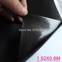 Free-shipping!! 1.52X0.6m/0.3M Air free bubbles black 4D car carbon wrap vinyl sticker