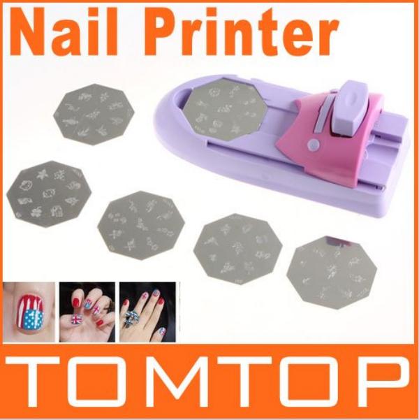 Free shipping DIY 3d decoration Nail Art Stamping Printing Machine By HongKong Post,Fashionable paint machine for nail tools(China (Mainland))