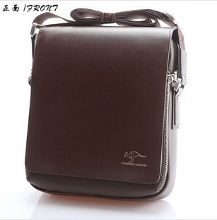 Hot Sale New 2014 Fashion Designer Kangaroo Brand Handbags Men Shoulder Bags Genuine Leather Men Messenger Bag Black Brown(China (Mainland))
