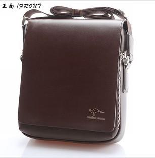 Hot Sale New 2014 Fashion Designer Kangaroo Brand Handbags Men Shoulder Bags Genuine Leather Men Messenger Bag Black Brown(China (Mainland))