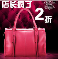 2014 new arrival free shipping fashion ladies handbags leather handbag shoulder bag Europe diagonal package 4 colors optional
