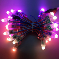 12mm WS2811pixel module string,IP68;DC12V input;full color;100pcs a string,Round Shape