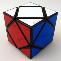 LanLan assembled and stickered Skew Magic Cube 57mm Black Toys for Chidren and Spped Puzzle