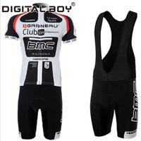 New Arrival Team BMC Cycling Jerseys Sportswear + BIB Bicycle Mountain Sports Shorts Mens Set 2014 Outdoor Wear