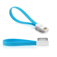 DHL Free Shipping 500pcs/Lot 20cm Length Magnet Head Magic Flat noodles 30pin USB Data Sync Charger Cable for iPhone 4/4S