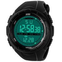 SKmei 1025 Men's Military Watch Sports Watches, 5ATM Dive Swim Climbing LED Digital Fashion Outdoor Men Wristwatches