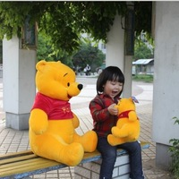 35cm Free shipping Bear doll, large yellow bear plush toys, children's gifts, baby toy, Christmas gifts