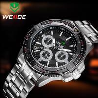 2014 Luxury WEIDE Brand Men Full Steel Watch Sports Watches Military Men Wristwatches 30 meters Diving Clock relogio masculino