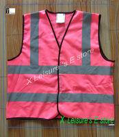 Reflective safety vest  Pink mesh and grey  5 cm reflective tapes reflective safety vest with EN471 standard