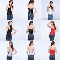Bargain price Sexy  women's  body shaper  Lace up boned  Corset  Bustier  clubwear  +G-string  Size S,M,L,XL,2XL,3XL,4XL,5XL,6XL