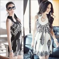 2014 New Arrival Women's Floral Classic Vintage Collar Exotic Mini Dress Sundress B11 3166