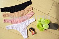 Women's Seamless Sexy G-string VS Secret Ultra-Thin Underwear G String Thong Panty Panties Ladies XXS-M T Back Briefs Free ZWH01