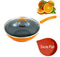 Nonstick Cast Aluminum Deep Fry Pan Skillet with Ceramic Inside Cover