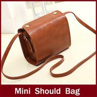 Bags 2014 women's handbag female oil leather vintage small bag messenger bag mini  shoulder bags