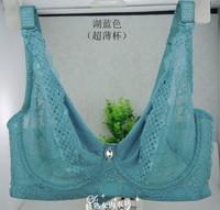 Summer slim breathable mesh bra gather adjustable