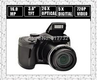 Free shipping brand 26 x optical zoom 16 million pixel autofocus camera digital camera family