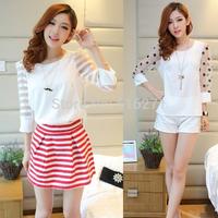New 2014 spring summer fashion women blouse o-neck plus size chiffon ladies blouses backing shirt blusas B013 Free shipping