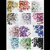 13 colors 4mm 2000pcs Acrylic Flatback Rhinestone ss16 Scrapbook Nail Gems for DIY decoration(13 colors you pick color)