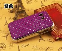 2pcs High Quality Luxury Bling Crystal Star Rhinestone Diamond Hard Case Chrome for Samsung Galaxy Y Young GT-S5360 S5360 Free