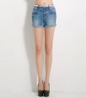 Ferzige Brand 2014 Summer Thin Design Flanging Slim Korean Denim Shorts With Belt Size 26 - 34  560 - Free Shipping