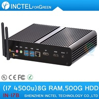 Free shipping mini size desktop pcs with haswell Intel Core i7 4500U 1.8Ghz 4 USB 3.0 HDMI DP 8G RAM 32G SSD Windows or Linux