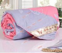 Hot!silk queen size High quality quilt comforter/duvet blanket 200*230 For summer Bedspread Handmade