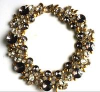 Europe USA Big fashion women necklaces vintage Crystal glass bib necklace & pendant luxury statement necklace jewelry wholesale