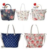 FREE SHIPPING gray garden rose cath tall zipped tote bag cross body bag fashion floral cross body bag pvc cotton messenger bag
