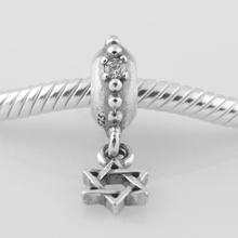 LW291 2014NEW Free Shipping 1pc Jewelry 925 Silver Bead five-piont star European women Charm Beads Fits pandora Style Bracelets