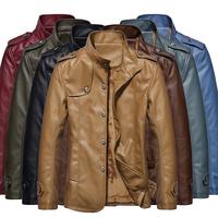 free shipping jackets for men , men dress fleece thick leather jacket winter coat 79