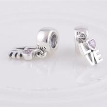 Fits Pandora Bracelet DIY Making Authentic 100 925 Sterling Silver Original Bead Love Charm Women Jewelry