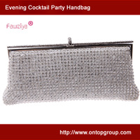 Metal frame dazzling diamond baguette - high class party handbag - wedding party clucthes