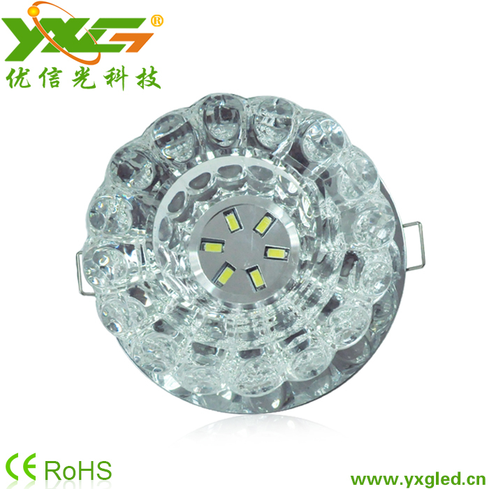 Free shipping high quality 3W chandelier crystal led ceiling lights for home decoration 110V 220V warm & cool white(China (Mainland))