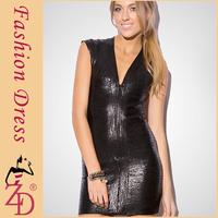 V Neck hl bandage dress celebrity dresses Black Glitter Bandage Bodycon Dress
