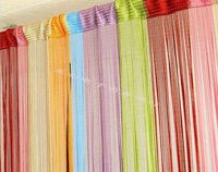 Free shipping, 100 * 200cm line curtain, indoor upscale decor  hotel  bedroom, curtain, multicolor optional