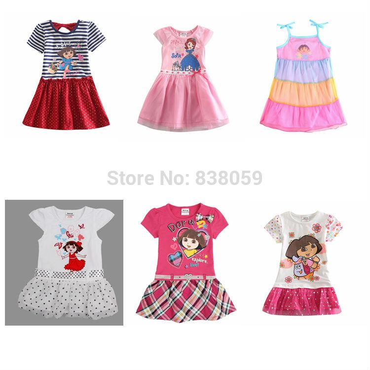 AliExpress.com Product - Dora girl Dress Kid Clothing Children's Wear NOVA Fashion New 2014 Summer dress for Girls Toddler Princess Dress baby girl H4709