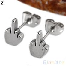 2pcs Fashion Punk Cool Black Stainless Steel Men's Ear Jewelry Studs Earring