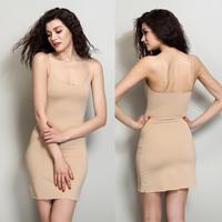 Women's control slips Ultra-thin fashion super quality women seamless full slip waist training corsets vestido de renda