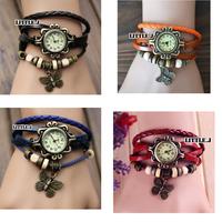 Womens Fashion Butterfly Bracelet Wrap Wrist Watch Quartz Movement Watches More Color Choice