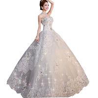 sexy lace wedding dress plus size with crystal princess wedding dresses custom made vestidos de novia bridal gown fashionable