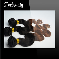 hot sale human hair Indian Virgin hair two tone color weaving Mix length 10-24 Inches Top Quality body wave